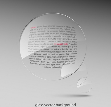 glass lens background modern transparent design