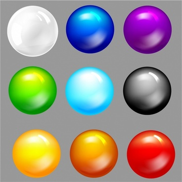 Vector Glass orb buttons