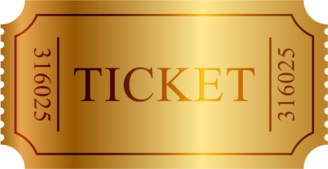 vector gold ticket design elements
