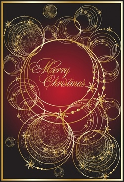 christmas background sparkling golden circles layout