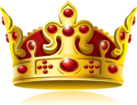 vector golden crown nobility
