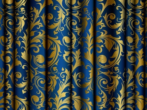 curtain background colored traditional pattern decor 3d design