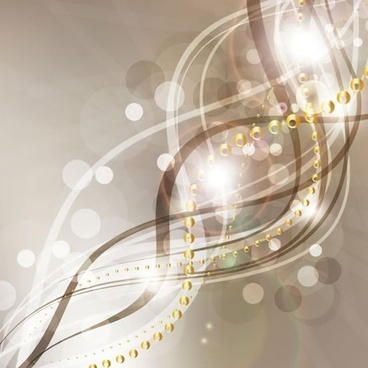 decorative background dynamic sparkling bokeh lights curves sketch