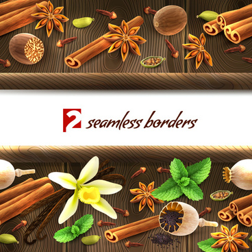 vector gourmet spices background
