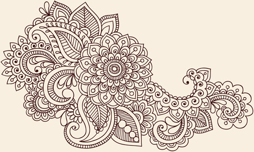 Flower Ornament Vector Free Vector Download 20843 Free Vector For