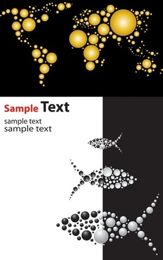 vector graphics composed of dots