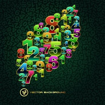 numbers background modern colorful shiny decor