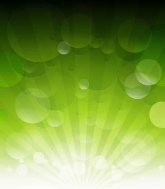 Vector Green Bokeh Abstract Light Background