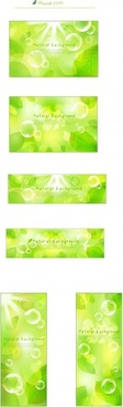 natural background sets green leaf bubbles bokeh decor