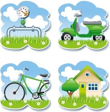 vector green living