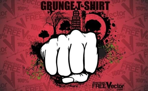 Vector Grunge T-shirt