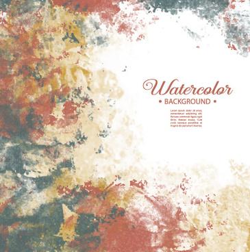 vector grunge watercolor background art