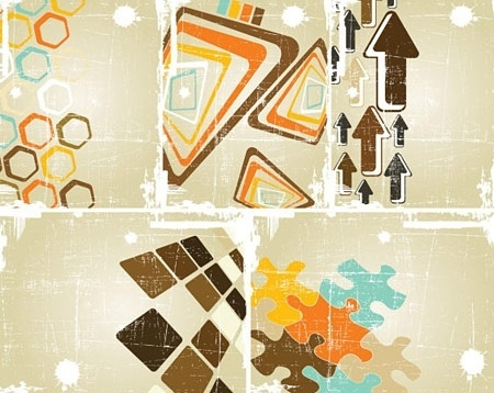 grungy abstract backgrounds colorful retro style