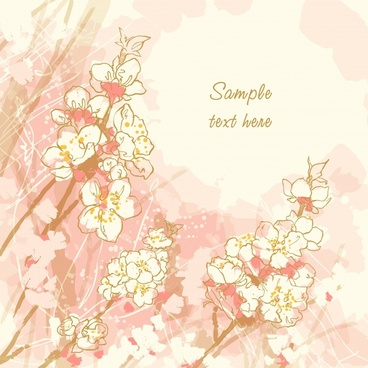 nature card background bright classic handdrawn design