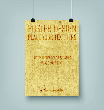 vector hanging poster design graphics