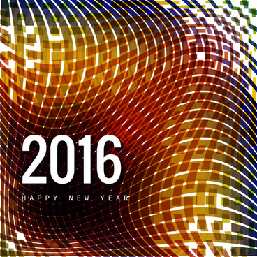 vector happy new year 2016 text background
