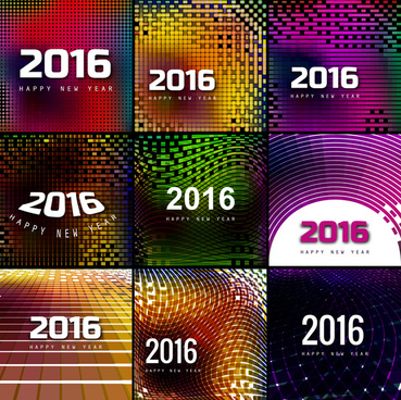 vector happy new year 2016 text collection background