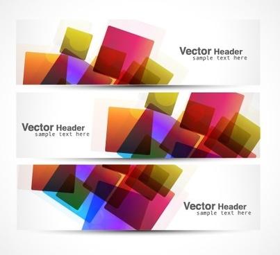 vector heard of modern banner design elements
