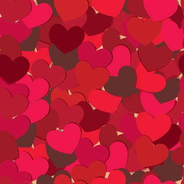 vector heart valentine background art