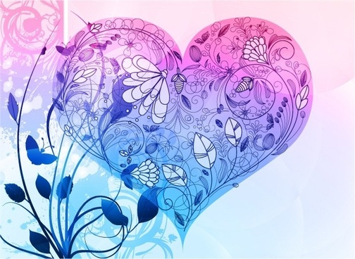 Vector Heart Valentine's Day Background