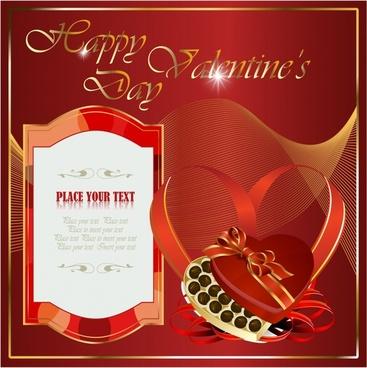 valentine card template elegant shiny red dynamic decor
