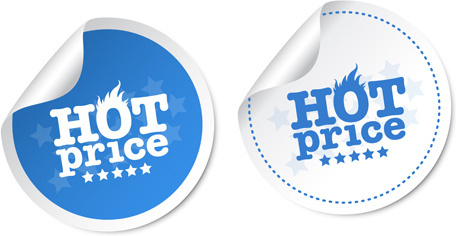 vector hot price stickers design