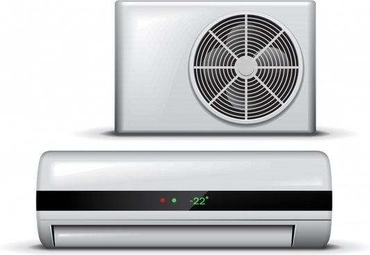 air conditioner icon modern realistic design