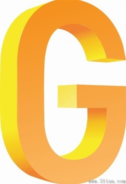 vector icon letter g