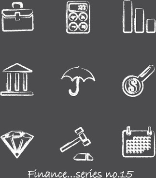 vector icons sketch in pencil design elements