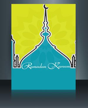 vector illustration arabic islamic template brochure ramadan kareem text design