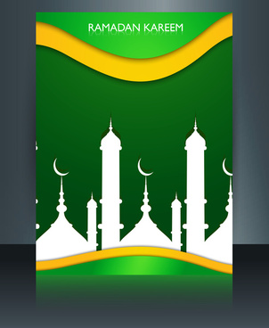 vector illustration arabic islamic template brochure ramadan kareem text design