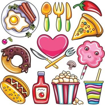 vector illustration cartoon donut