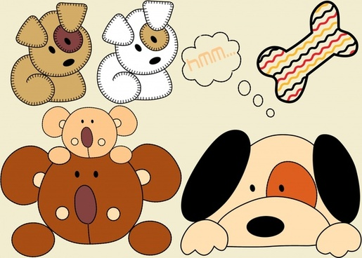 vector illustration cartoon toy bear