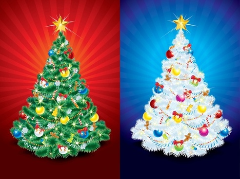 vector illustration christmas tree light