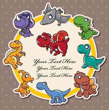 vector illustration cute cartoon animals
