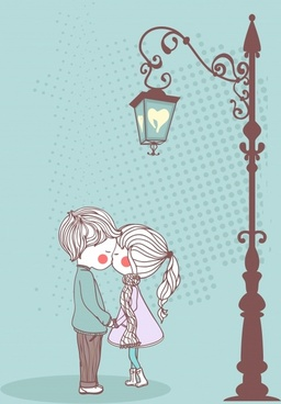 vector illustration cute couple