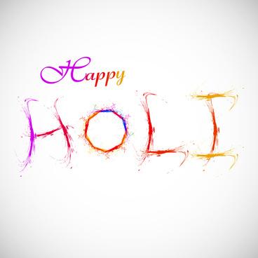 vector illustration happy holi for colorful indian festival celebration background