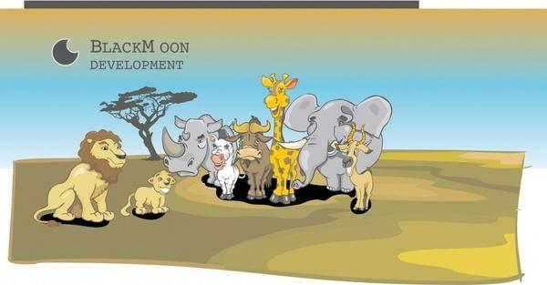 vector illustration lion king