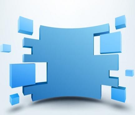 Vector illustration of 3d background