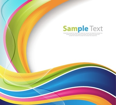 vector illustration of abstract colorful waves background