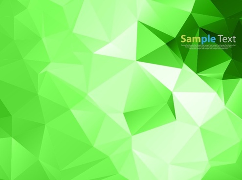 vector illustration of abstract green triangle background