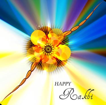 vector illustration of beautiful raksha bandhan festival background