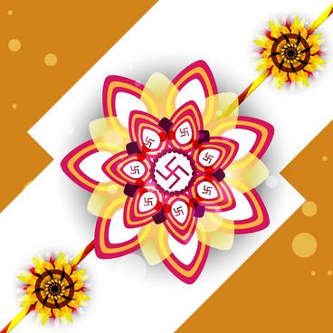 vector illustration of card colorful raksha bandhan festival design