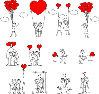 vector illustration of romantic love