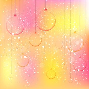 vector illustration of transparent balls on bokeh background