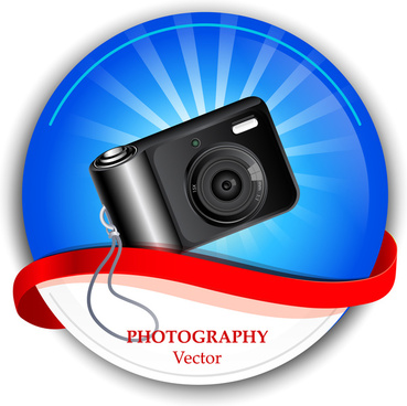 vector illustration of vintage camera advertisement