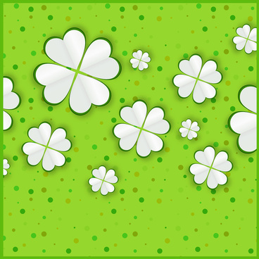 vector illustration of white flowers on green background