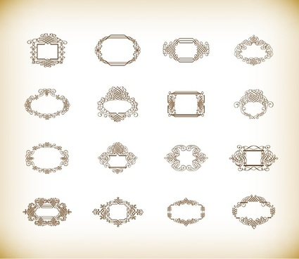 vector illustration set of vintage frames
