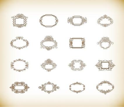 vector illustration set of vintage frames
