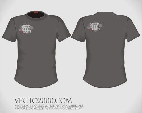 Vector illustration: T-shirt design template (for men)